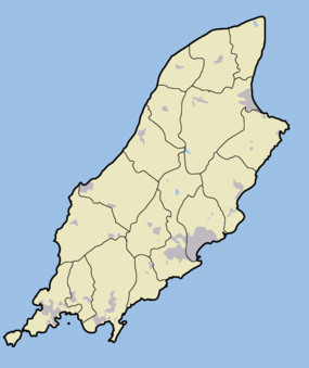 Dalby (Man Uhartea) is located in Man