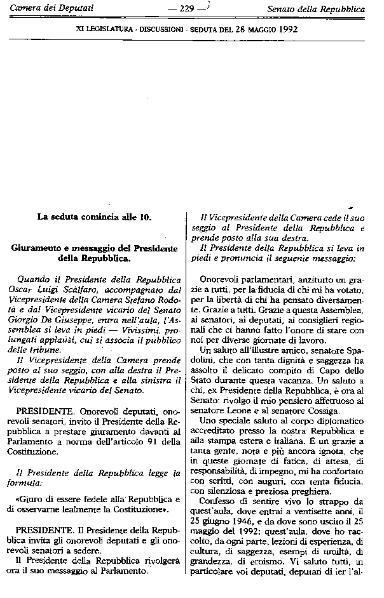 File:Italia - 28 maggio 1992, Giuramento e messaggio del Presidente della Repubblica Oscar Luigi Scalfaro.djvu