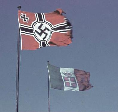 Italian and German flags - june 1943