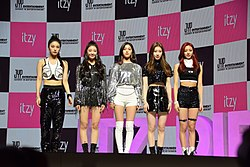 Itzy at a showcase debut on February 12, 2019.jpg