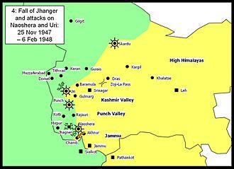 Aslam Khan (Pakistani brigadier) - Areas of control 25 November 1947 – 6 February 1948