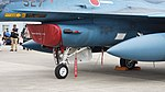 JASDF F-2A(43-8527) air intake & nose landing gear left front view at Komaki Air Base March 13, 2016.jpg