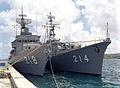JS Tokachi (DE-218) and JS Ōi (DE-214) in Apra Harbor, -1 Apr. 1984 a.jpg