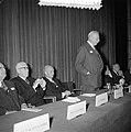 Jaarvergadering verbond met werkgevers voorzitter T. J. Twijnstra spreekt met Mi, Bestanddeelnr 907-3719.jpg