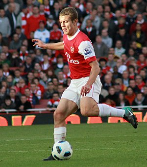 Jack Wilshere - Wilshere playing for Arsenal in 2010