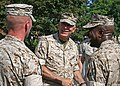 James Conway, Commandant of the Marine Corps, greets Marine and sailors.jpg