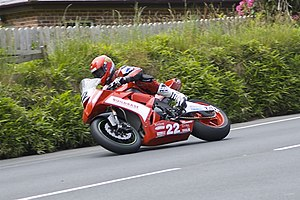 Bedstead Corner and The Nook, Isle of Man - James Hillier entering The Nook side-junction in 2009