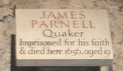 Photo of James Parnell white plaque