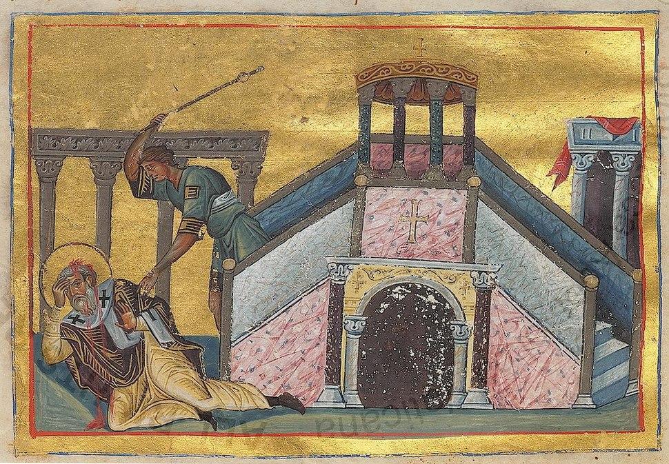 James the Just (Menologion of Basil II)