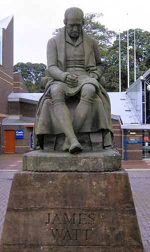 The Watt Club - Statue of James Watt, the unveiling of which led to the formation of the Watt Club.