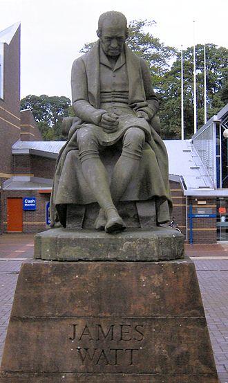 Heriot-Watt University - This statue of James Watt commissioned for the School of Arts today sits at Heriot-Watt's Edinburgh Campus.