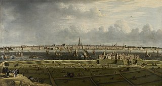 View of the city and the roads of Antwerp from the 'Vlaams Hoofd'