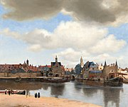 View of Delft by Johannes Vermeer, 1660-1661