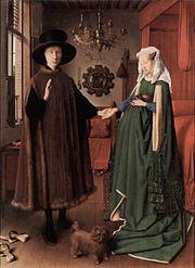 The Arnolfini Portrait, by Jan van Eyck, painted 1434