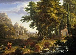 Arcadian Landscape with Saints Peter and John Healing the Lame Man