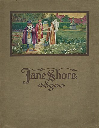 Jane Shore (1915 film) - Jane Shore publicity cover 1915