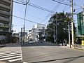 Japan National Route 211 near headquarters of Chidoriya-Honke Confectionery Shop.jpg