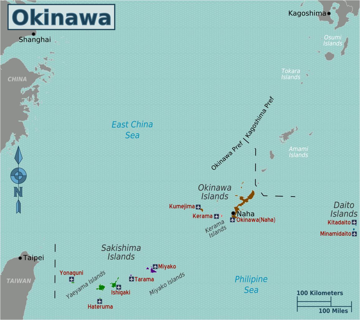 Map Okinawa Surrounding Islands