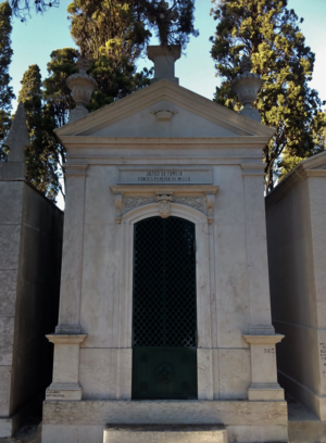 Fontes Pereira de Melo - Tomb of the Fontes Pereira de Melo family at Prazeres Cemetery