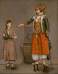 A Lady in Turkish Dress and Her Servant