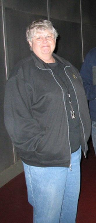 Jean Mueller - Jean Mueller inside the Hale Telescope building on October 6, 2009
