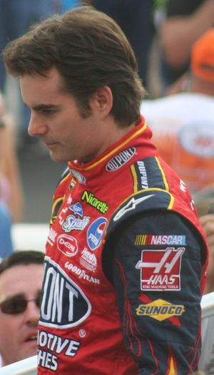 NASCAR driver Jeff Gordon in August 2007 at Br...
