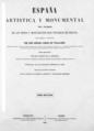 Jenaro Pérez Villaamil (1865) España artística y monumental, portada 2.png