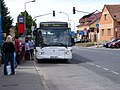 Jesenice (PZ), Budějovická, autobus v zastávce Jesenice.jpg
