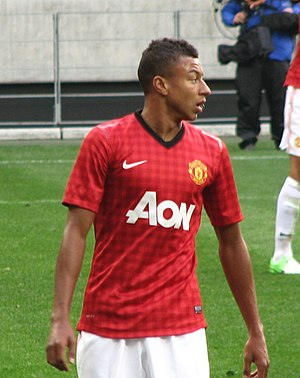 Jesse Lingard - Lingard playing for Manchester United in 2012