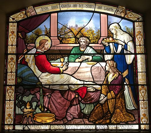 Jesus, Mary, Martha and Lazarus, St Botolph without Aldersgate