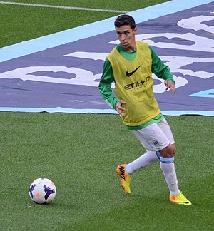 Jesús Navas - Navas warming up for Manchester City in 2013