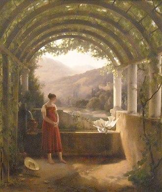Fleury François Richard - Young girl at a fountain, Musée des Beaux-Arts de Lyon