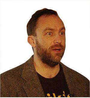 English: Jimbo Wales, the founder of Wikipedia...