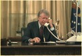 Jimmy Carter on the telephone in the oval office - NARA - 182443.tif