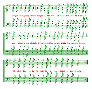 English: A rendition of the musical notation f...