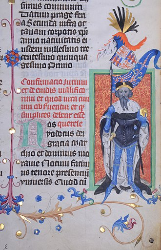 Jobst of Moravia - Jobst of Moravia, Gelnhausen Codex, 15th century