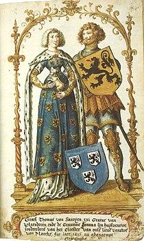 Joan of Constantinople and Thomas II of Savoy.jpg