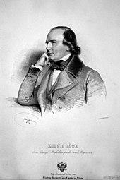 Johann Daniel Ludwig Löwe, Lithographie von Joseph Kriehuber, 1844 (Quelle: Wikimedia)