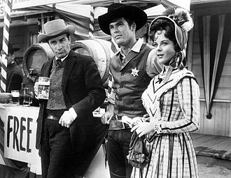 Ty Hardin - John Beradino, Hardin, and Anne Helm in 1961