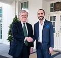 John Bolton and Salvadoran President-elect Bukele.jpg