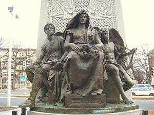 John Boyle O'Reilly - John Boyle O'Reilly monument, Boston, by Daniel Chester French, 1896