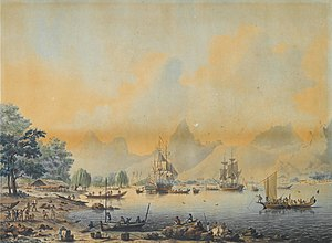 John Cleveley the Younger, Views of the South Seas (No. 2 of 4).jpg