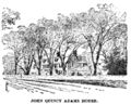 John Quincy Adams House B & W (Biographical Dictionary of America, vol. 1).png