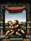 Joos van Cleve - The Infants Christ and Saint John the Baptist Embracing - WGA5040.jpg