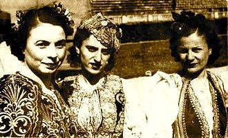 Jorgjia Filçe-Truja - Left-right: Jorgjia Filce-Truja, Lola Gjoka, and Tefta Tashko-Koco