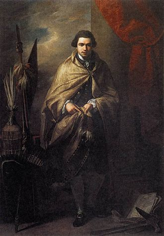 The Collection (Lincolnshire) - Painting of Joseph Banks by Benjamin West held by Usher Art Gallery