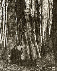 LDS President Joseph F. Smith in the Sacred Grove in 1905.