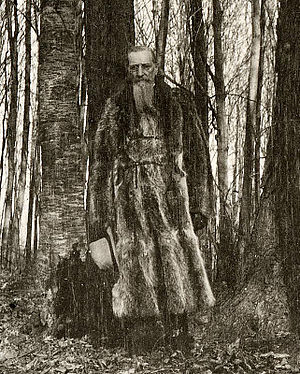 Joseph F. Smith - Joseph F. Smith in the Sacred Grove, ca. 1905