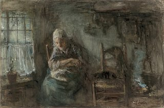 Oude vissersvrouw
