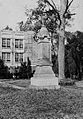 Julian Poydras Monument at Poydras High School in New Roads Louisiana in the 1930s.jpg